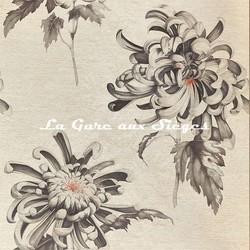 Papier peint Zoffany - Evelyne - réf: 312734 Koi/Vine Black
