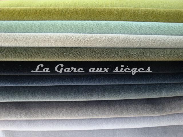 tissu nobilis velours otello vente en ligne au m tre la gare aux si ges. Black Bedroom Furniture Sets. Home Design Ideas