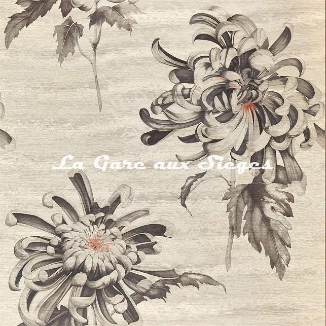 Papier peint Zoffany - Evelyne - réf: 312734 Koi/Vine Black - Voir en grand