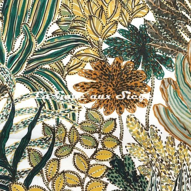 Tissu Casamance - Paradou - réf: 4234.0361 Vert anglais - Voir en grand
