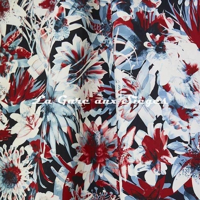 Tissu Jean Paul Gaultier - Hawaï - réf: 3496.02 Bleu - Voir en grand