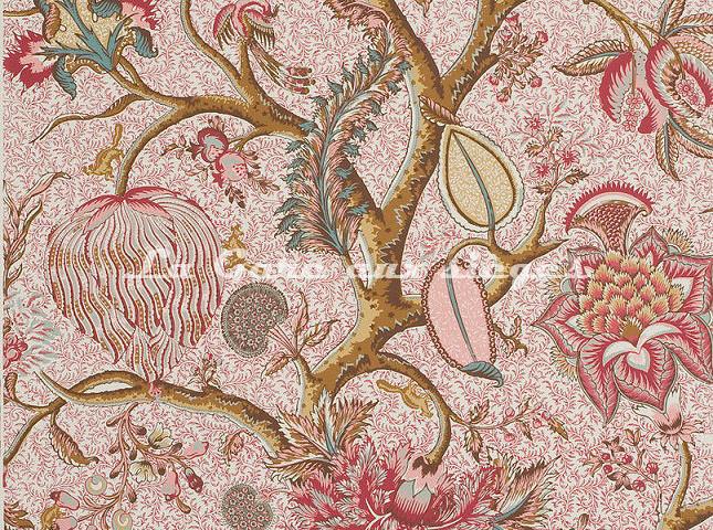 Papier peint Braquenié - Le Grand Corail ( rose ) - Voir en grand