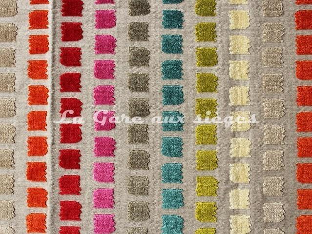Tissu Deschemaker - Velours Salvador - réf: 103686 - Multicolore - Voir en grand
