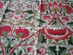 Tissu William Morris - Lodden - réf: 222524 Rose/Thyme ( détail ) - Voir en grand