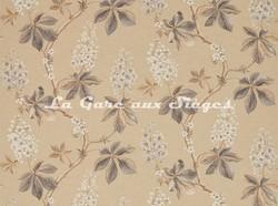 Tissu Sanderson - Chestnut Tree - réf: 225514 Wheat/Pebble - Voir en grand