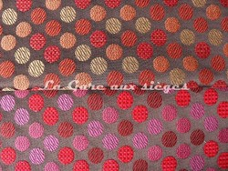 Tissu Deschemaker - Marantz - réf: 103798 Chocolat & 103800 Sangria - Voir en grand