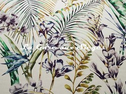 Tissu Harlequin - Paradise - réf: 120353 Gooseberry/Blueberry/Zest - Voir en grand