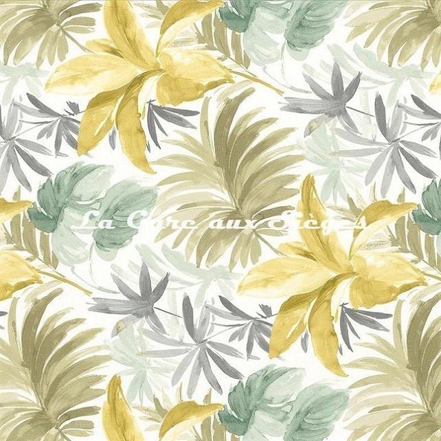 Tissu Camengo - Palma - réf: 4071.0413 Vert - Voir en grand