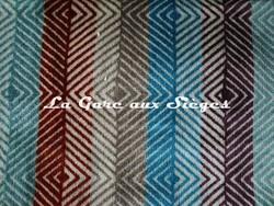 Tissu Harlequin - Erza - réf: 130627 Spice/Aqua/Aubergine/Turquoise - Voir en grand