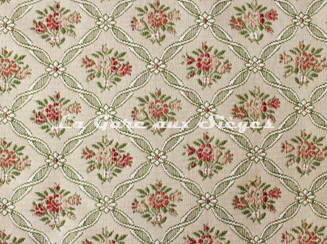 Tissu Chanée Ducrocq - Pauline - réf: 8138 Rose Vert - Voir en grand