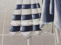 Tissu Boussac - Trouville - réf: O7694.001 - Coloris ciel - Voir en grand
