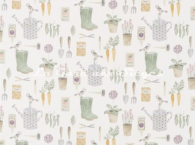 Tissu Sanderson- The Gardener - réf: 226346 Fig - Voir en grand