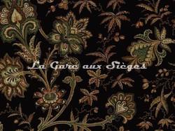 Tissu House of Hackney - Indienne jacquard - Coloris: Black - Voir en grand