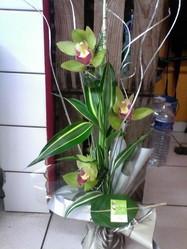 bouquet poche d'eau original orchidee - Voir en grand