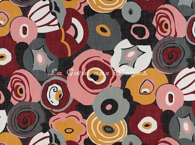 Tissu Gaston y Daniela - Flamingo réf: GDT-5134-004 Rosa/Verde - Voir en grand