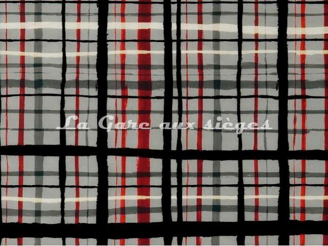 Tissu Jean Paul Gaultier - Fusain - réf: 3457-02 Rouge - Voir en grand