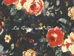 Tissu Casamance - Galante - réf: 3818.0214 Orange/Marine - Voir en grand
