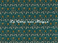 Tissu William Morris - Eye Bright - réf: 226598 Teal - Voir en grand