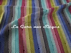 Tissu Harlequin - Erza - réf: 130626 Hyacinth/Aubergine/Magenta/Lime/Aqua - Voir en grand