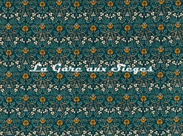 Tissu William Morris - Eye Bright - réf: 226598 Teal - Voir en grand