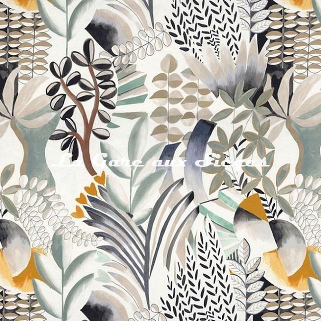 Tissu Casamance - Giardini - réf: 4615.0146 Céladon - Voir en grand