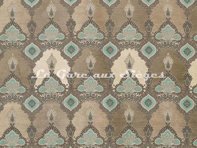 Tissu Osborne & Little - Haveli - réf: F6947-01 Linen/Ivory/Pale/Jade - Voir en grand