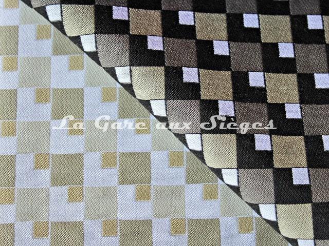 Tissu Casal - Pop - réf: 13429 - Coloris: 74 Bouleau & 77 Taupe - Voir en grand