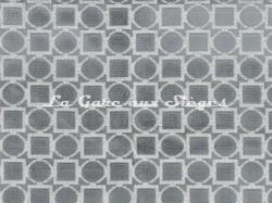 Tissu Osborne & Little - Velours Toto - réf: F7045-02 Silver - Voir en grand