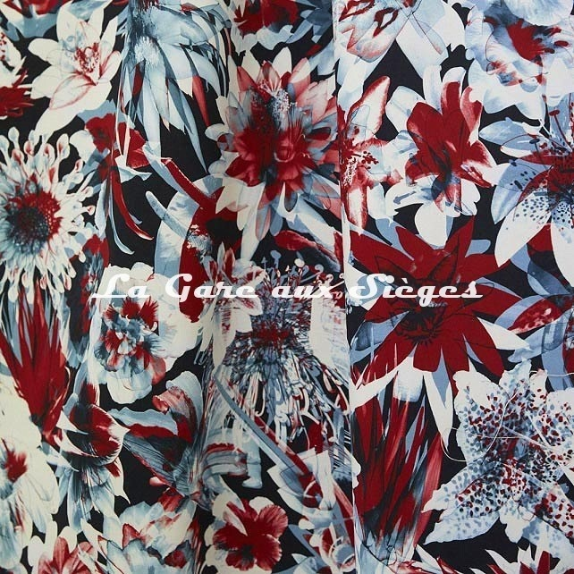 Tissu Jean Paul Gaultier - Hawaï - réf: 3496.02 Bleu ( suite ) - Voir en grand
