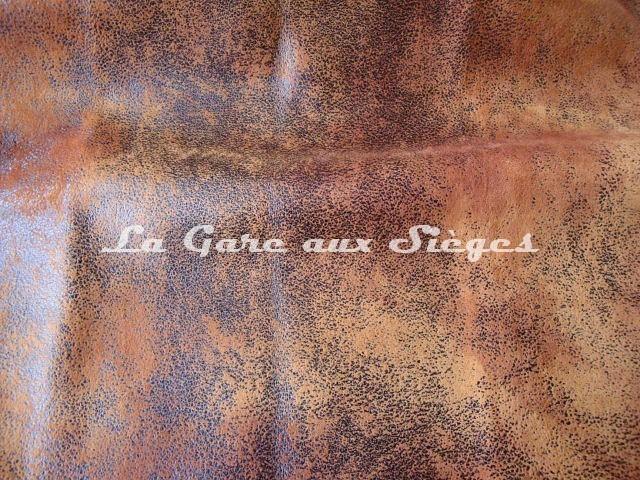 Tissu Casal - Cuir vieilli - Réf: 5080-53 Chocolat - Voir en grand