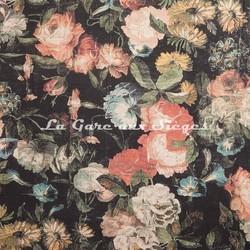 Tissu House of Hackney - Midnight Garden lin/viscose Multi - Voir en grand