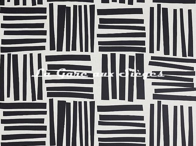 Tissu Pierre Frey - Liz - réf: F3484.002 Noir & Blanc - Voir en grand