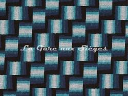 Tissu Osborne & Little - Caroussel - réf: F7054-02 Midnight/Turquoise - Voir en grand