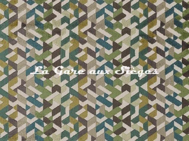 Tissu Camengo - Guatemala - réf: 4272.0422 Vert - Voir en grand