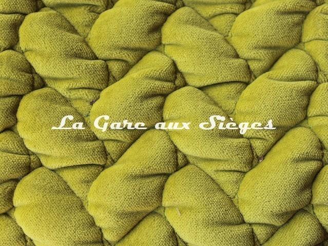 Tissu Dominique Kieffer - Velours Tresse - réf: 17229.02 Chartreuse - Voir en grand