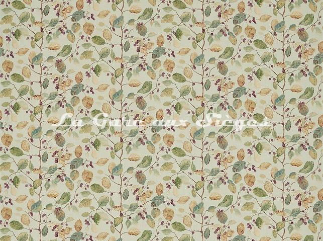 Tissu Sanderson - Woodland Berries - réf: 225529 Bayleaf/Fig - Voir en grand
