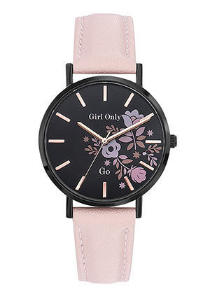 Bracelet rose cadran noir 699009  - Voir en grand
