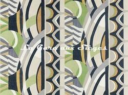 Tissu Harlequin - Atelier - réf: 120793 Saffron/Charcoal/Wasabi - Voir en grand