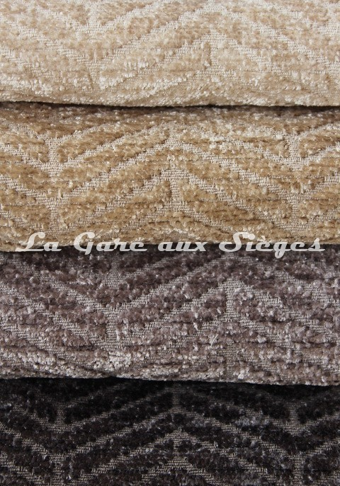 Tissu Casal - Acrobate - réf: 16184 - Coloris: 72 Ivoire - 76 - Sable - 62 - Fumée - 65 - Anthracite - Voir en grand