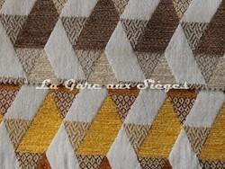 Tissu Casal - Kappa - réf: 16205 - Coloris: 73 Beiges & 40 Ambre - Voir en grand