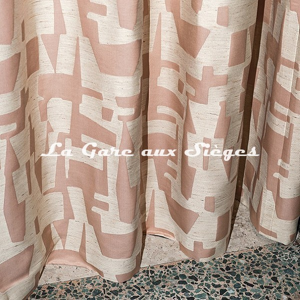 Tissu Dedar - Pazl - réf: T18004.003 Rose Thé - Voir en grand