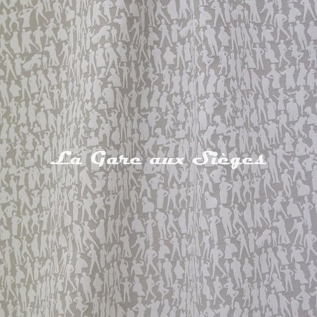 Tissu Jean Paul Gaultier - Silhouette - réf: 3492.01 Naturel - Voir en grand