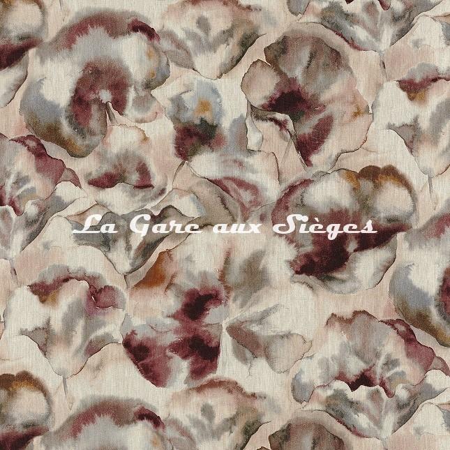 Tissu Casamance - Melumbo - réf: 4317.0292 Rose cyclamen - Voir en grand
