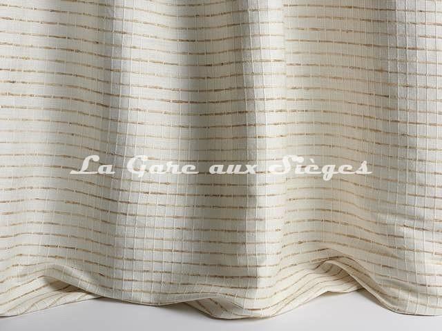 Tissu Pierre Frey - Soie Inés - réf: F3268-001 Crème - Voir en grand