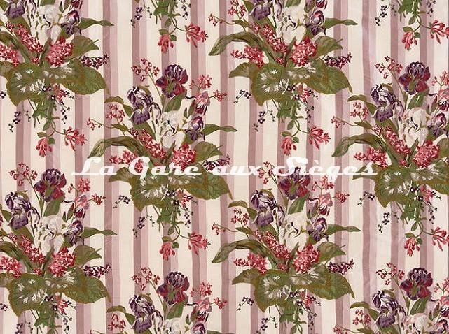 Tissu Braquenié - Broderie Victoria - réf: B7601.001 Lilas - Voir en grand