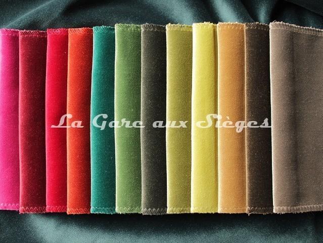 Tissu Carlucci - Velours Allure Velvet - réf: CA1357 - Palette de couleurs n°1 - Voir en grand