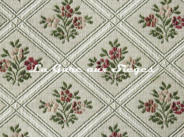 Tissu Chanée Ducrocq - Constance - réf: 6770 Rose Vert ( détail ) - Voir en grand