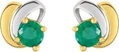 Boucles d'oreilles bicolore emeraude 18 carats  183 ¤ - Voir en grand