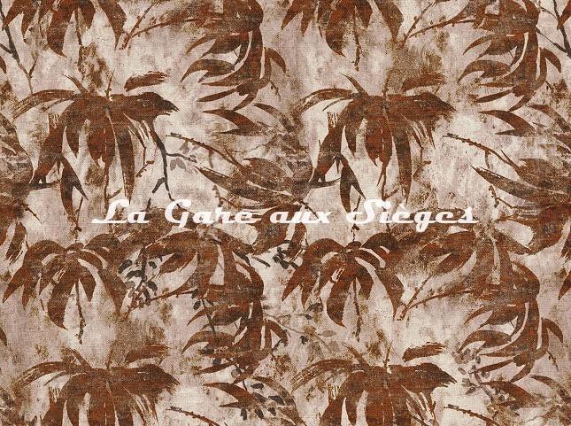 Tissu Casamance - Papyrus - réf: 4321.0144 Orange brulée - Voir en grand