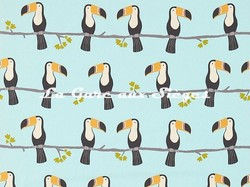 Tissu Scion - Terry Toucan - réf: 120466 Honey/Charcoal/Sky - Voir en grand